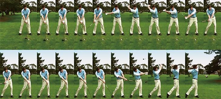 高尔夫球击球连续画面模式可拍摄包含每一个挥杆分解动作的影片和静态图片